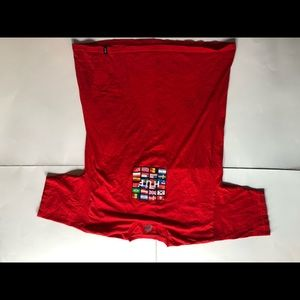 HUF red t shirt